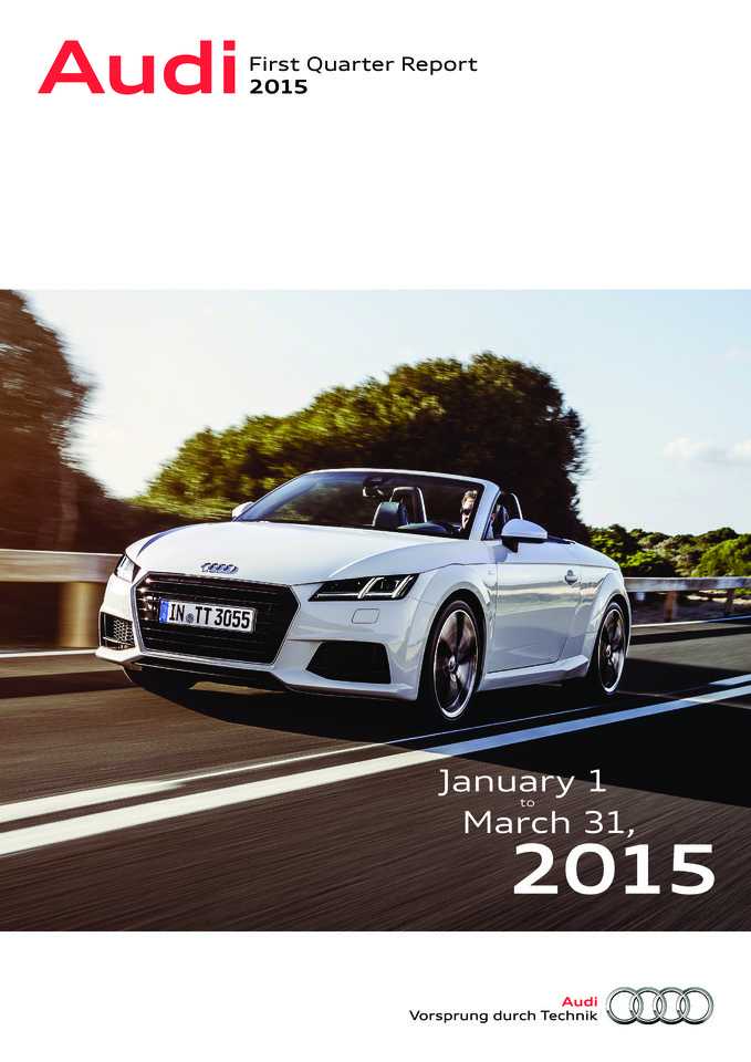 High res audi first quarter report 2015