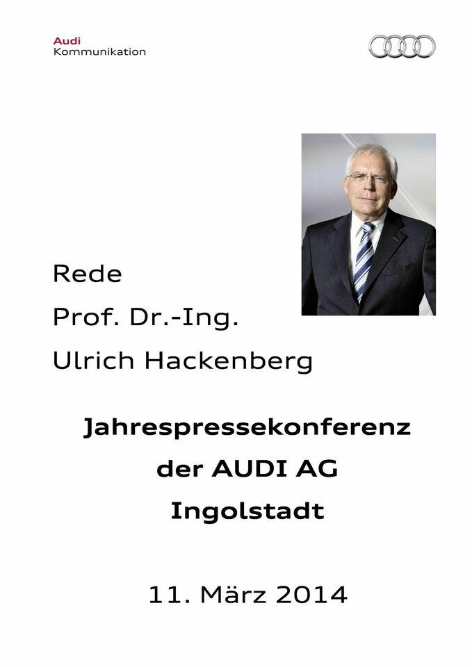 High res 211857003 prof dr ulrich hackenberg jahrespressekonferenz 2014