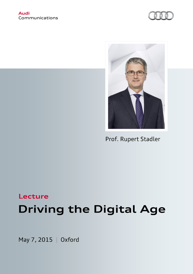 Driving the Digital Age Lecture at Oxford University