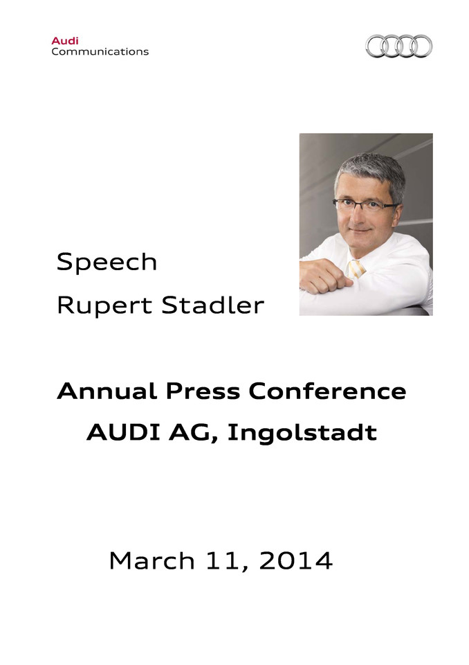Speech at the Annual Press Conference 2014