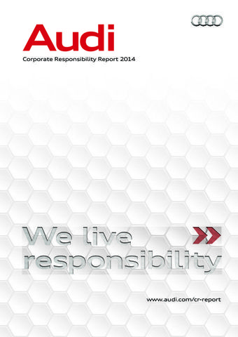 Corporate Responsibility Report of AUDI AG