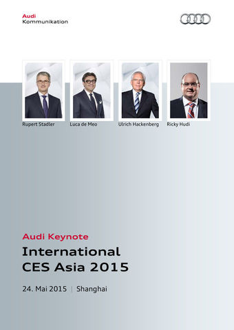 Audi Keynote International CES Asia 2015