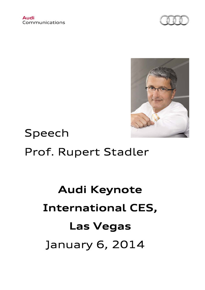 High res 20140106 pressversion ces keynote prof rupertstadler audi ag