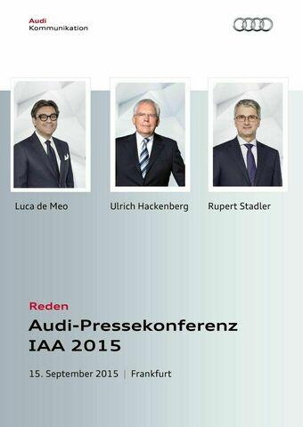 Reden Audi-Pressekonferenz IAA 2015