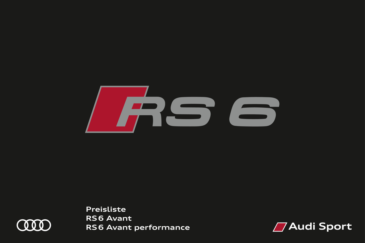 High res preisliste rs 6 avant performance 01 18