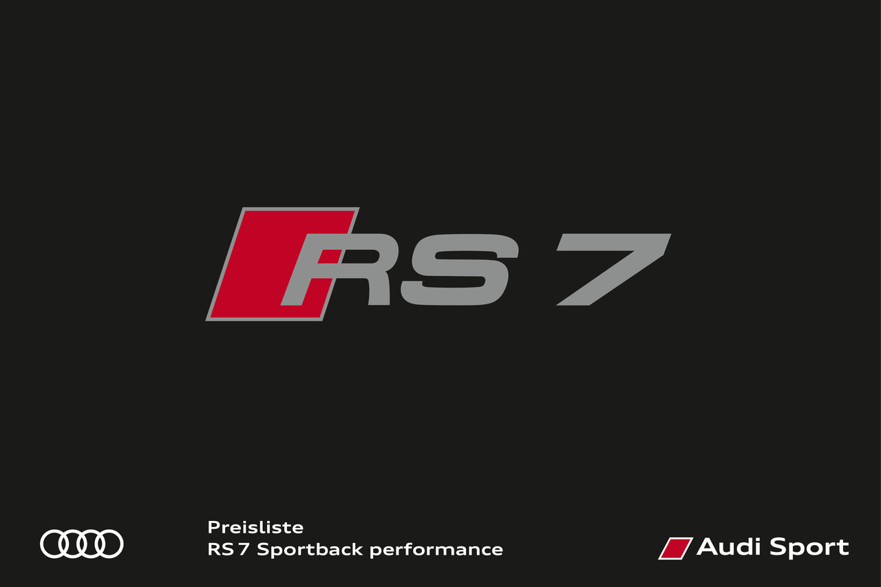 High res preisliste rs 7 sportback performance 02 17