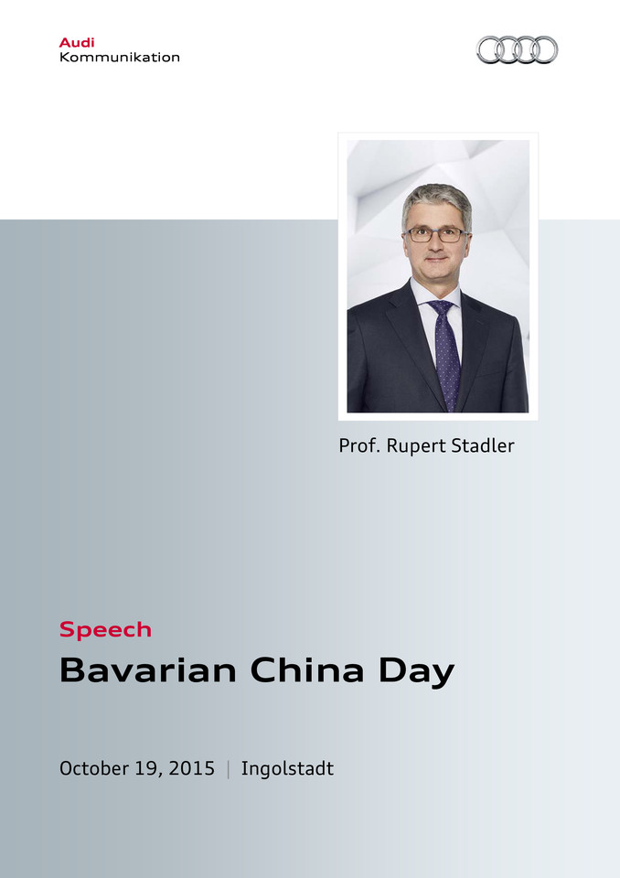 Speech Bavarian China Day