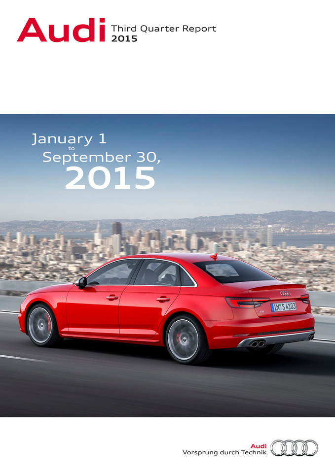 Audi - Third Quarter Report 2015