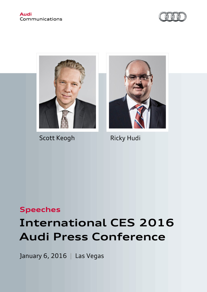 Speeches International CES 2016 Audi Press Conference, Las Vegas