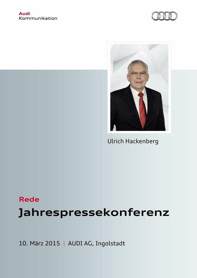 High res 150310 jahrespressekonferenz audi ag rede prof dr ulrichhackenberg press