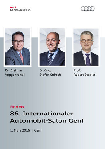 Reden 86. Internationaler Automobil-Salon Genf