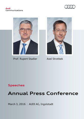 Speeches to the Annual Press Conference 2016
