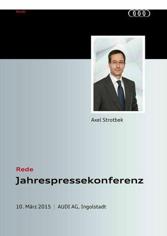Rede anlässlich der Jahrespressekonferenz 2015