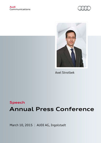 Speech to the Annual Press Conference 2015