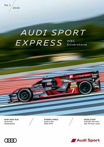Audi Sport Express 01/2016 - WEC Silverstone