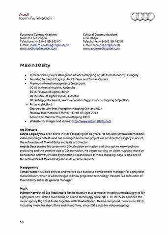 Factsheet Maxin10sity