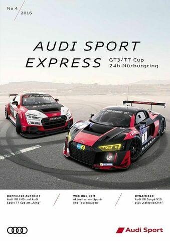 Audi Sport Express 04/2016 – GT3/TT Cup 24h Nürburgring