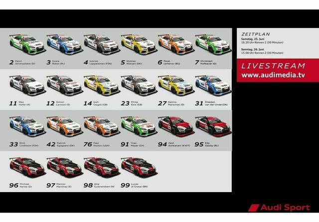 Spotter Guide Audi Sport TT Cup 03/2016 – Norisring