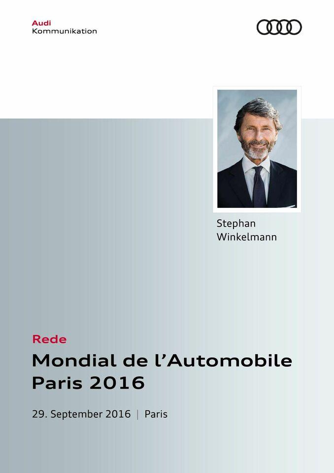 High res audisport pressekonferenz modialdel automobileparis redestephan winkelmann 0929 12h
