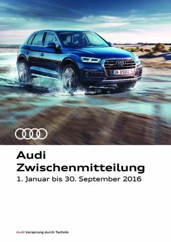Audi-Zwischenmitteilung zum 3. Quartal
