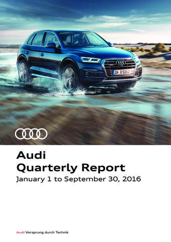 Third Quarter Report 2016 of AUDI AG