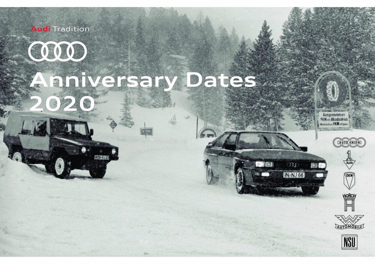 Anniversary dates 2020