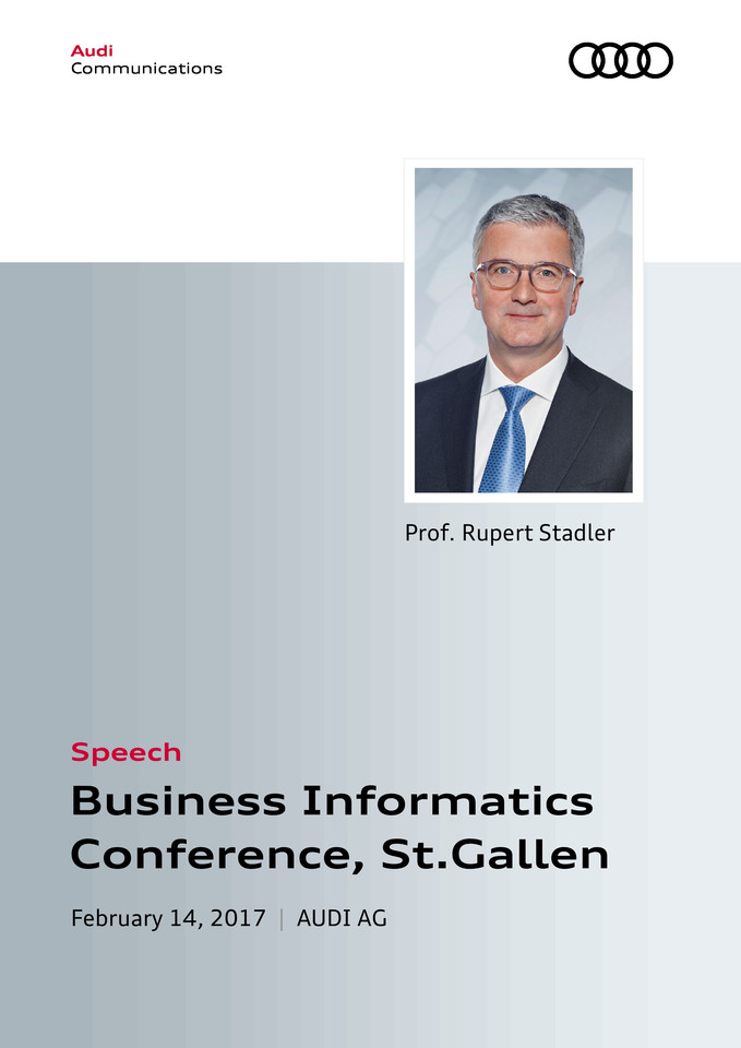Speech at the Business Informatics Conference, St.Gallen