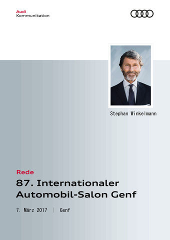 Rede Audi Sport Pressekonferenz 87. Internationaler Automobil-Salon 2017