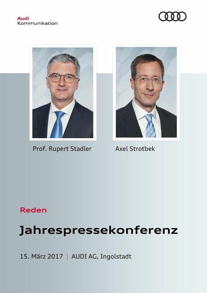 High res 0315 audi jahrespressekonferenz rede deutsch