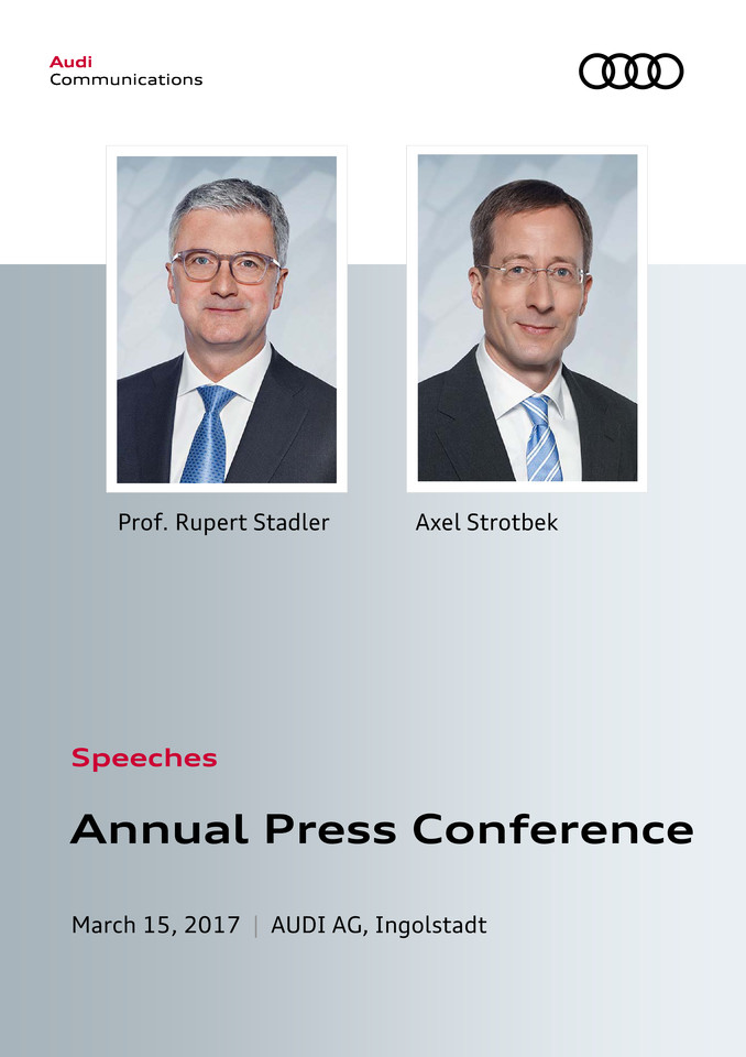 Speeches to the Annual Press Conference 2017