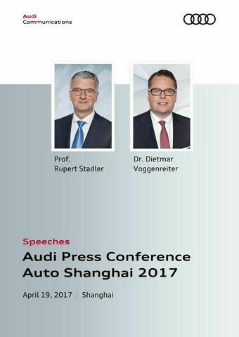 Reden anlässlich der Pressekonferenz Auto Shanghai 2017