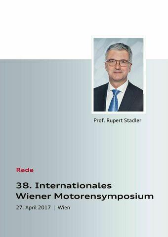 Rede zum 38. Internationalen Wiener Motorensymposium