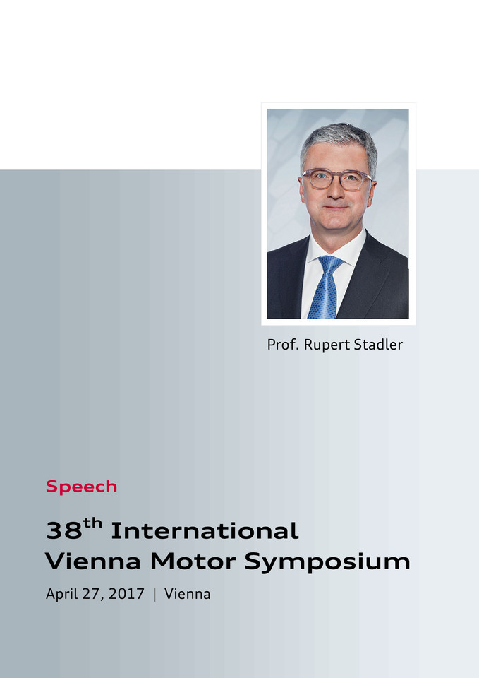Speech at the 38th International  Vienna Motor Symposium