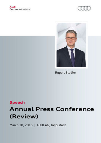 Speech to the Annual Press Conference 2015 — Review