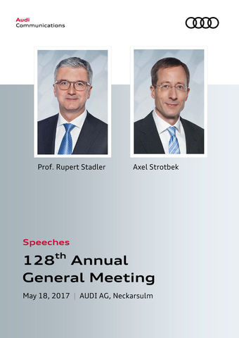 Speeches at the 128th Annual General Meeting