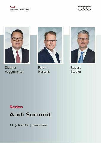 Reden Audi Summit 2017