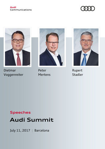 Speeches Audi Summit 2017