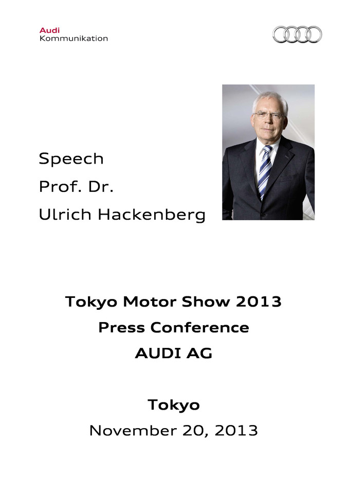 High res 131120 speech prof dr ulrichhackenberg tokyomotorshow pressversion final