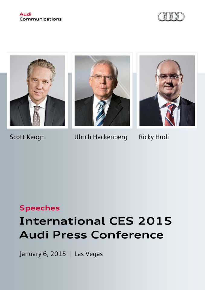 Speeches Audi Press Conference International CES 2015