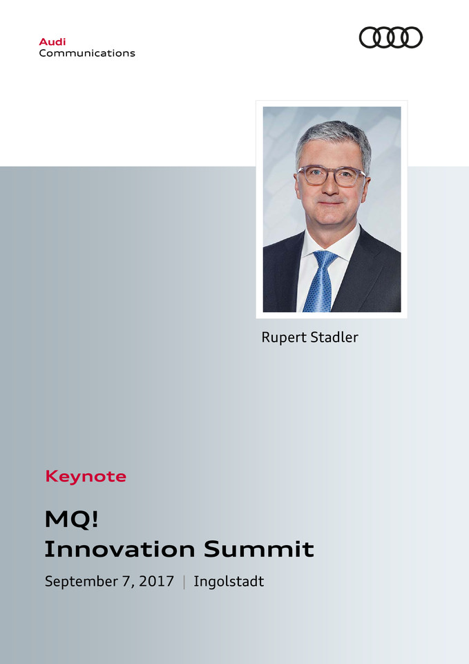 Keynote MQ!  Innovation Summit