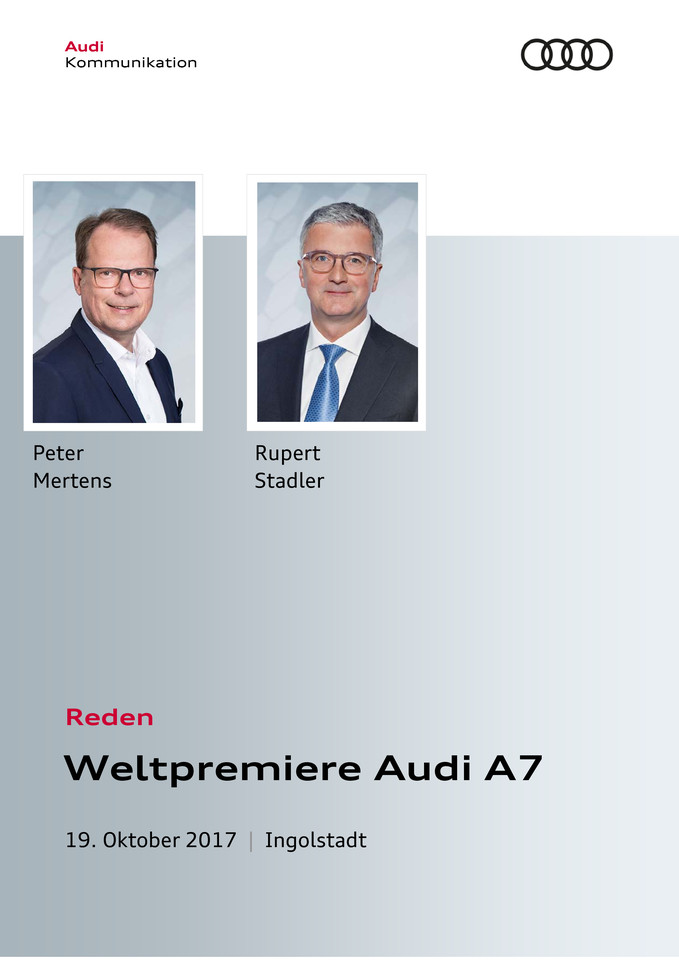 Reden Weltpremiere Audi A7