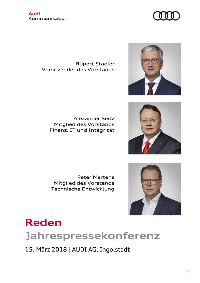 Reden anlässlich der Jahrespressekonferenz 2018