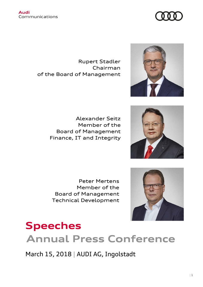 Speeches at the Annual Press Conference 2018