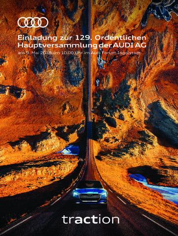 129. Ordentliche Hauptversammlung der AUDI AG, 9. Mai 2018, Audi Forum Ingolstadt