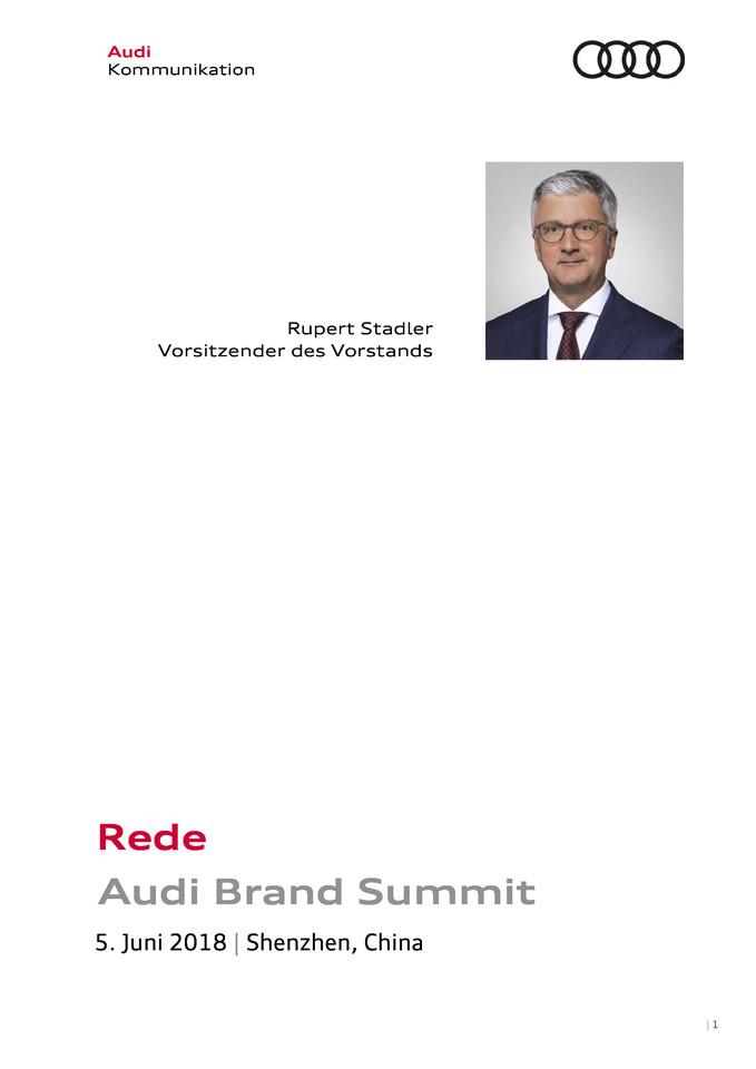 Rede Audi Brand Summit