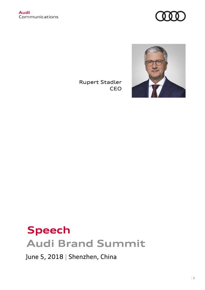 High res 180605 audi summit china speech rupert stadler