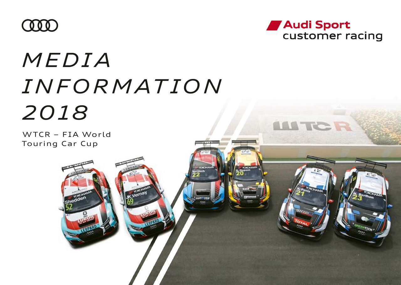 Media Information WTCR – FIA World Touring Car Cup 2018 (englisch)