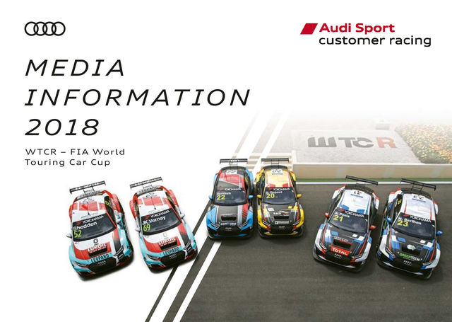 Media Information WTCR – FIA World Touring Car Cup 2018