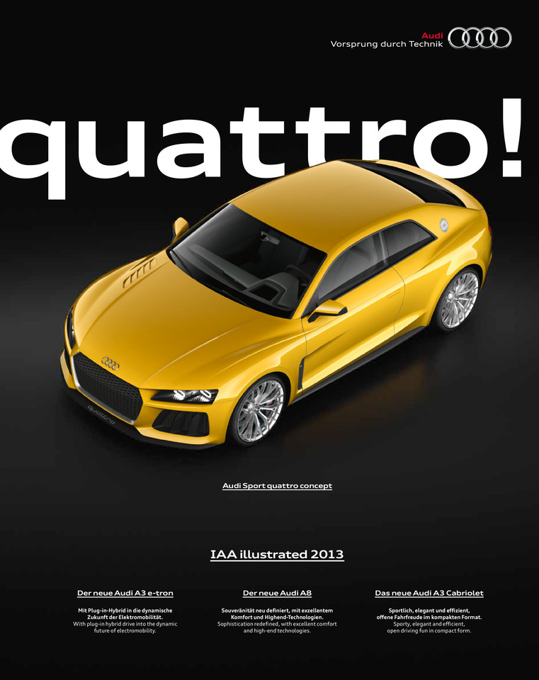 Audi IAA illustrated 2013