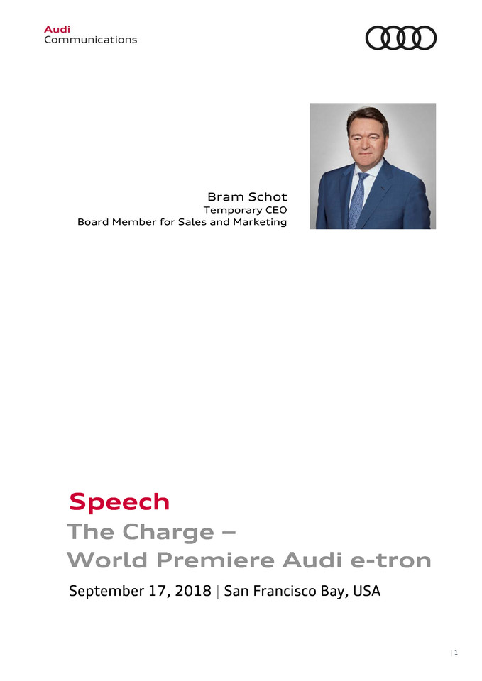 High res audi e tron the charge speech bram schot